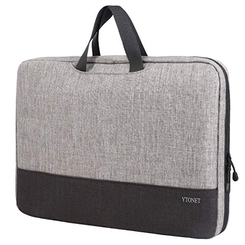 Laptop Bag 15.6 inch,TSA Laptop Sleeve Case, Slim Organizer Protective Case, Notebook Carring Handbag fit for 13 14 15 inch Laptop, Computers and Tablet Bag, Grey Black