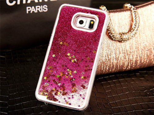 nk Glitter Gel Liquid Gold Stars Quicksand Girly Kawaii Pretty Hard Cover Case for Samsung Galaxy Note 5 G920 ()