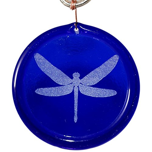 4-Inch Etched Dragonfly Suncatcher In Cobalt Blue from our Animal And Creature Collection - Made In the USA. A Great Gift For Anyone. Colorful Suncatchers Bring a Room or View To Life.
