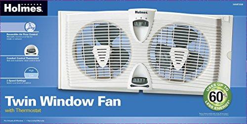 Holmes Hawf2030 Dual Blade Twin Window Fan With Thermostat
