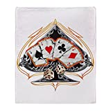 Stadium Throw Blanket Four of a Kind Poker Spade
