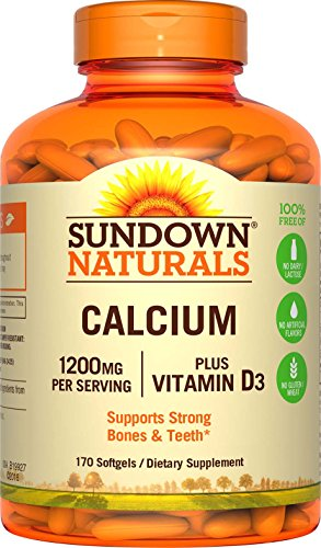 Sundown Naturals Calcium plus Vitamin D3, 1200mg, Softgels 170 ea
