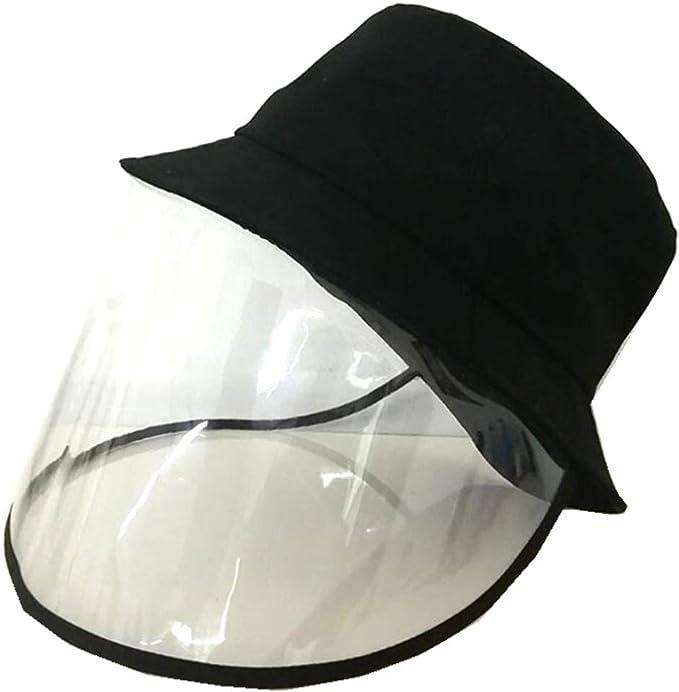 Lynn025Keats Visiera per Adulto,Cappello Protettivo per Visiera Trasparente Antipolvere Impermeabile Uomo Donna Visiera per Esterno e Viaggio 1pz