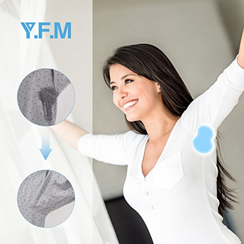 Underarm Sweat Pads, Y.F.M Underarm Antiperspirant Sticker Absorbing Sweat Pads non-woven fabric Disposable Shield Dress Shields Sweat Guard for Women and Men [40 Pack/20 Pairs] by Y.F.M (Image #2)