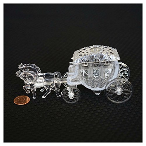 Royal Vintage Cinderella Horse and Carriage Coach Cake Topper Clear - Wedding Cake Topper Cinderella