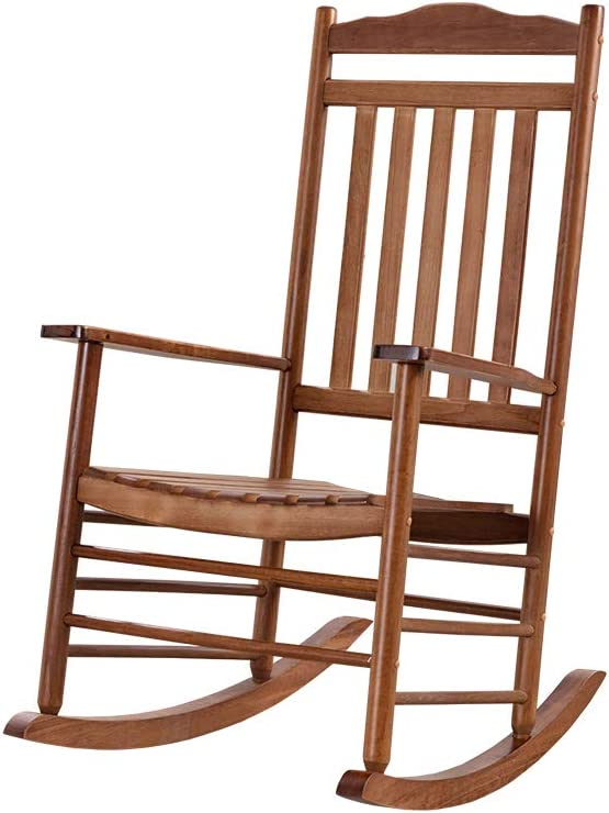 B&Z KD-28N Wooden Rocking Chair Simple Porch Rocker Outdoor Indoor Oak