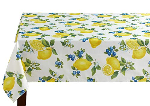 (Benson Mills Indoor Outdoor Spillproof Tablecloth for Spring/Summer/Party/Picnic (Giuliana, 60