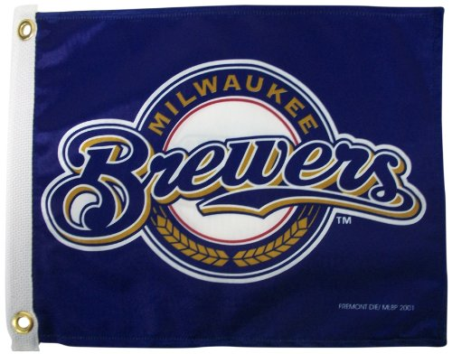 MLB Milwaukee Brewers Boat and Golf Cart Flag