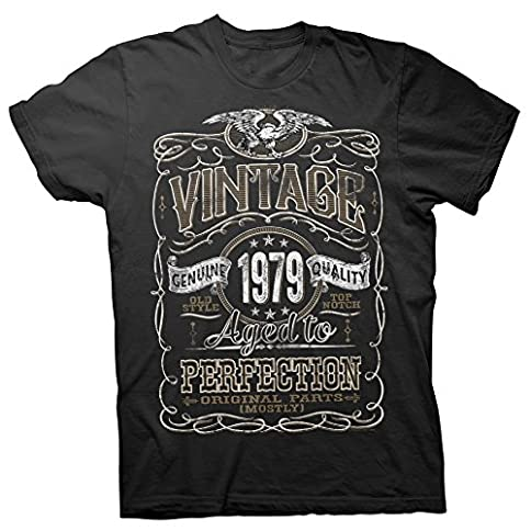 - 51pU6M4VDlL - 40th Birthday Gift Shirt – Vintage Aged to Perfection 1979 – Distressed
