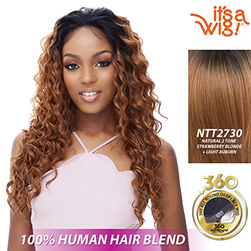 it's a Wig Soft 360 All Around Soft Lace Emotion (TT2730 - TWO TONE OFF BLACK + STRAWBERRY BLONDE + LIGHT AUBURN)