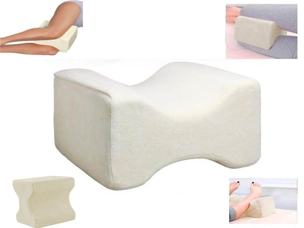 CONTOUR MEMORY FOAM LEG PILLOW ORTHOPAEDIC FIRM BACK HIPS & KNEE SUPPORT + COVER SONIC®