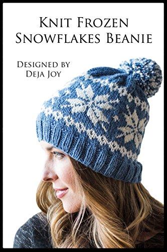 Knit Frozen Snowflakes Beanie