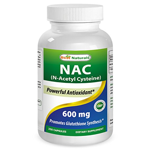 Best Naturals NAC N-Acetyl-Cysteine 600 mg 250 Capsules by Best Naturals