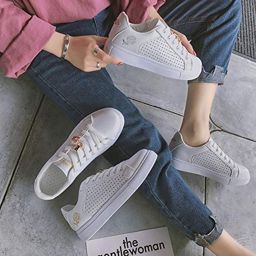 Embroider XINGMU Gold Up Casual Spring Platform Autumn Women Women Sneakers Lace Hollow Shoes Women Shoes Breathable Fashion WWp78ca