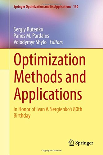 Optimization Methods and Applications: In Honor of Ivan V. Sergienko