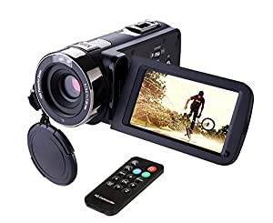 """Camcorder,Hausbell 302S Remote Control Camcorder, FHD Infrared Night Vision 1080p 24 MP Digital Camcorder Video Camera with 3.0"""" LCD, Touch Screen and HDMI Output"""