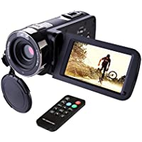 Camcorder,Hausbell 302S Remote Control Camcorder, FHD Infrared Night Vision 1080p 24 MP Digital Camcorder Video Camera with 3.0' LCD, Touch Screen and HDMI Output