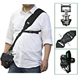 [UPDATE]IMORDEN Falcon F-2 Anti-theft Camera Sling Shoulder Strap with Exclusive Acra-Swiss Quick-release Connector(1/4'' screw), Safety Tether and Wrist Strap for Left/Right-Hander, Men/Women