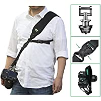 IMORDEN Falcon F-2 Adjustable Camera Sling Shoulder Strap with Exclusive Updated Acra-Swiss Quick-release Connector(1/4 screw), Safety Tether and Wrist Strap for Dslr Cameras,Left/Right-Hander