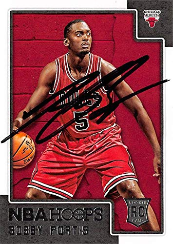 Bobby Portis autographed Basketball Card (Chicago Bulls) 2015 Panini Hoops Rookie (Portis Autograph)