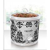 Kitchen & Housewares : Crock-Pot 3-Quart Manual Slow Cooker White Black Damask