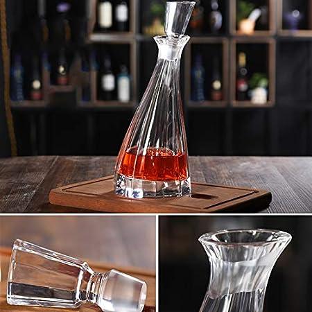 GAOXIAOMEI Decantador De Licor con Tapón Juego De Decantador De Whisky Decoración De Oficina para Hombres Decantador De Cristal para Alcohol para Licor, Whisky, Bourbon, Brandy, Vodka
