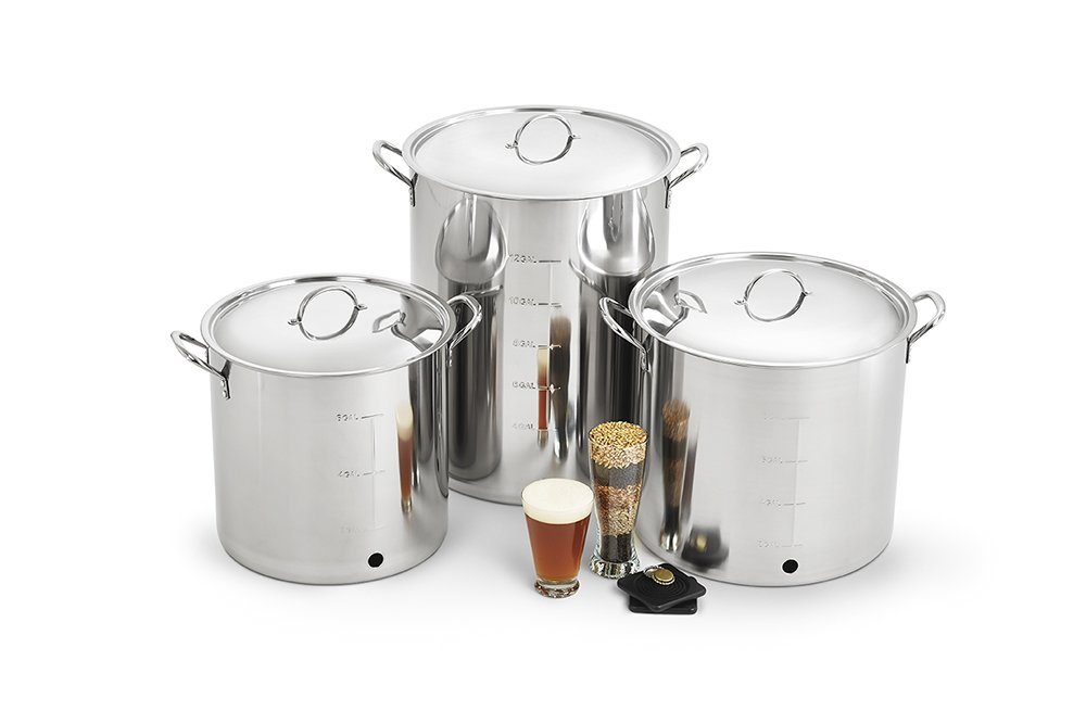 Polar Ware Stainless Steel Brew Kettle with Cover, Ball Valve and Bulkhead, 30-Quart by Polar Ware (Image #5)