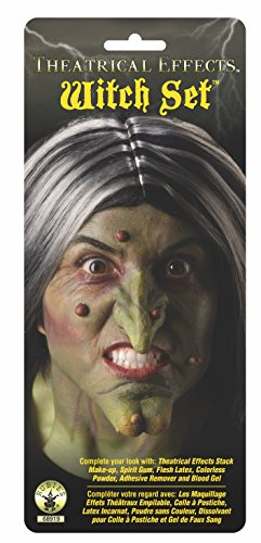 Rubie's Unisex-Adult's Standard Theatrical Effects Latex Appliance, Witch Nose and Chin, Multi, One Size]()