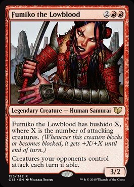 Magic: the Gathering - Fumiko the Lowblood (155/342) - Commander 2015