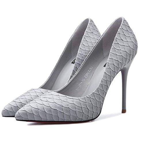 Donna Tacchi Ballo da Sexy Gray 10cm 36 Festa Alti Sexy UK Scarpe 4 Moda Lavoro EU Discoteca Nuziale 88rwqA5