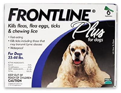 FRONTLINE PLUS for Dogs Flea & Tick 23-44 lbs Blue 6 Months