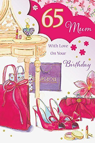 Mum 65th Birthday Card Amazoncouk Kitchen Home