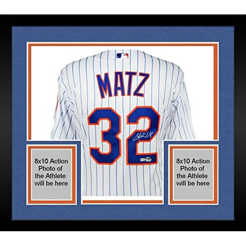 Framed Steven Matz New York Mets Autographed White Authentic Jersey ...