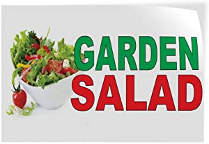 Decal Stickers Multiple Sizes Garden Salad Green Red Bar Restaurant Food Truck Industrial Vinyl Safety Sign Label Restaurant & Food 7x5Inches