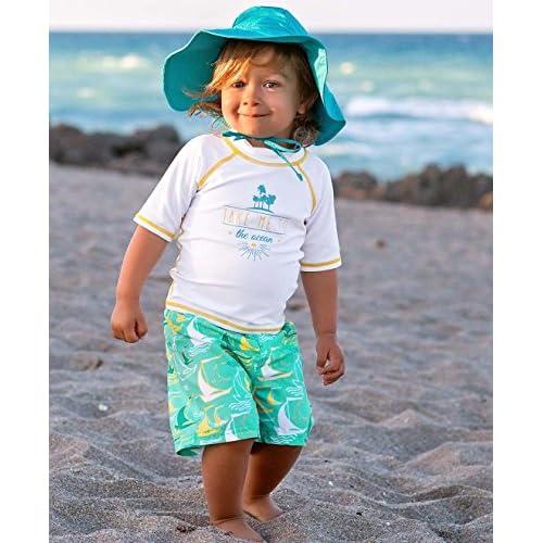 486f482a684ce RuggedButts Infant/Toddler Boys Sailboat Swim Trunks w/Adjustable Waistband