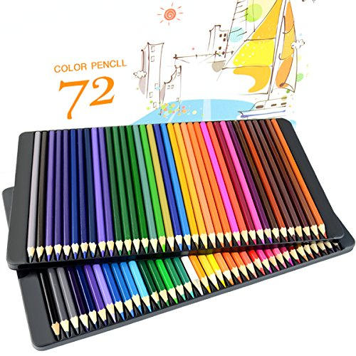 TAIR 72-Count Colored Pencils Set Drawing Pencils