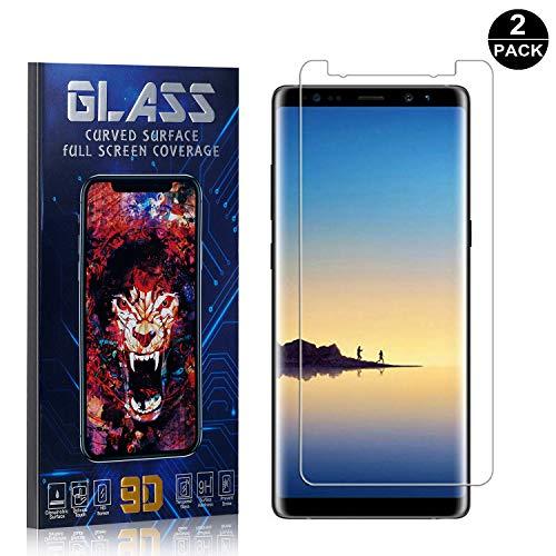 Galaxy Note 8 Screen Protector, UNEXTATI Premium HD [Anti Scratch] [Anti-Fingerprint] Tempered Glass Screen Protector Film for Samsung Galaxy Note 8 (2 Pack) ()