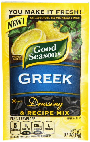 Good Seasons Greek Vinaigrette Dressing & Recipe Mix (0.7 oz Packets, Pack of 24)