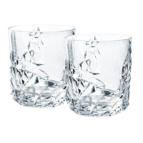 Nachtmann Sculpture Crystal Tumblers, Set of - Plastic Pilsners Crystal