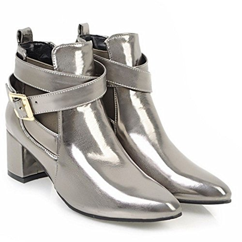 KemeKiss Strap Bootie On Monk Color Gun Slip Fashion Women rw7ZYxqTrA