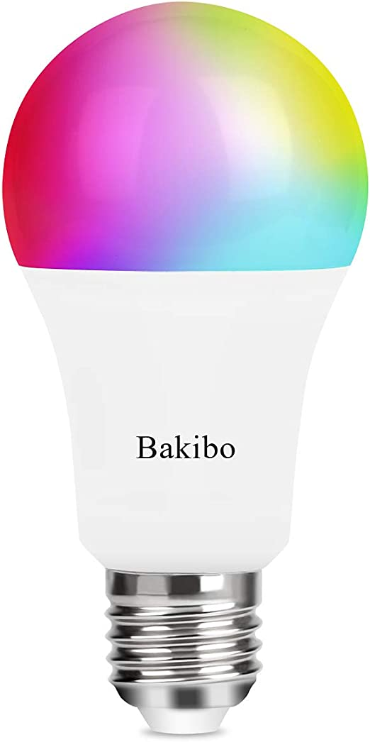 bakibo Bombilla LED Inteligente WiFi Regulable 9W 1000 Lm Lámpara ...