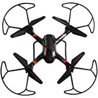 Kids 6 Axis Gyro RC Hexacopter 4CH 2.4GHz Mini Drone Quadcopter With Propeller Protector Light Toy Black