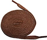 Shoeslulu 50' Premium Flat Waxed Cotton Bootlaces Shoelaces (50 in. (127 cm), Cigar Brown)