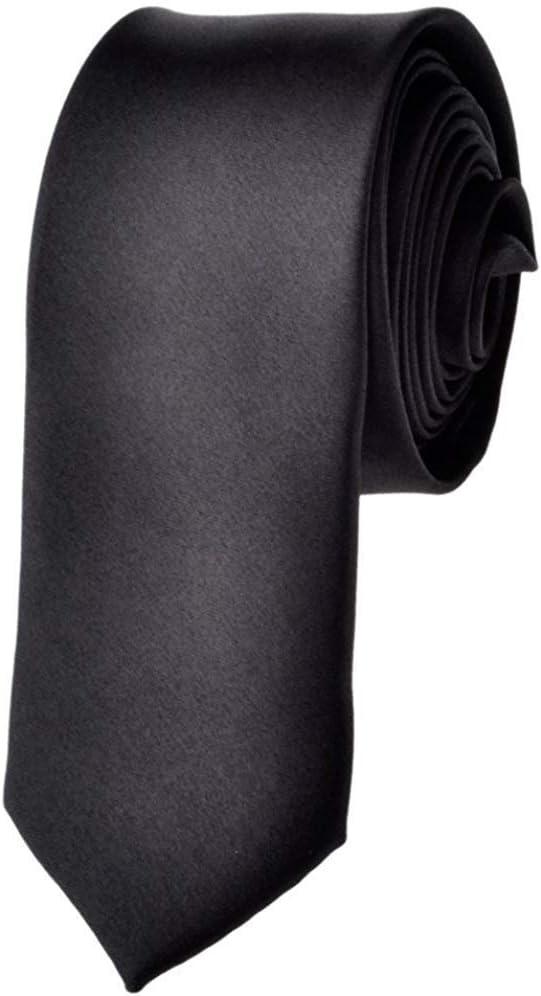 Corbata Disfraz De Flaco Sólido Para Hombre Corbata Negra Corbata ...