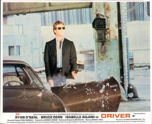 DRIVER ORIGINAL LOBBY CARD RYAN O'NEAL SUNGLASSES AND - Sunglasses Oneal