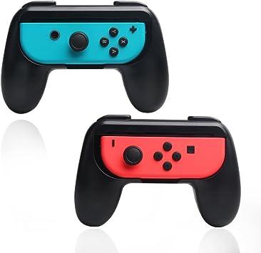 2 x negro Nintendo Switch Joycon Hand Grips, controlador Grip ...