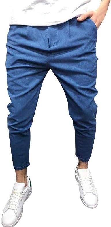 Rawdah_Pantalones Hombre Jogger Pantalones De Hombre Pantalones de ...