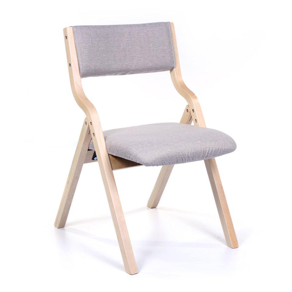 大人のための木製折り畳み式リビングルームチェア、ベッドルームオフィス屋内寝室レストランリムーバブルシートカバー付きの布張りのスツールスツール (色 : グレー, サイズ さいず : Set of 2) B07F133PNY Set of 2|グレー グレー Set of 2