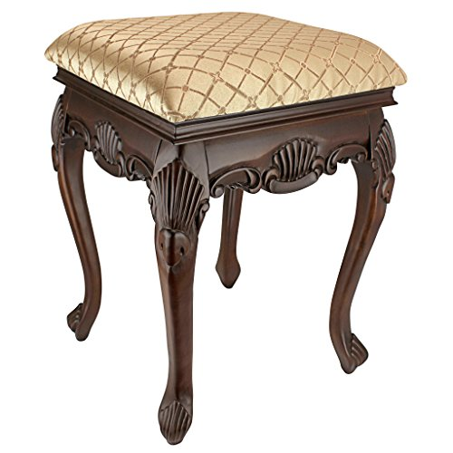 Design Toscano Madame Bouvier Boudoir Stool Finish: Walnut
