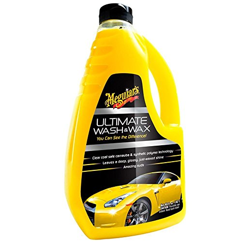 Meguiar's G17748 Ultimate Wash and Wax and Microfiber Cloths Bundle